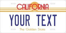 California 1982 Tag License Plate Personalized Auto Car Custom VEHICLE OR MOPED