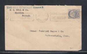 BERMUDA Commercial Cover Hamilton to Connecticut 4-4-1939 Cancel