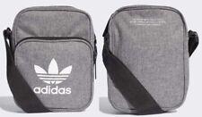 adidas Originals Unisex Grey Mini Cross-body Shoulder Sport Bag *NEW
