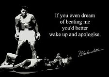Inspirational  Mohammed Ali  Quote Inspirational Motivation A4 260GSM POSTER