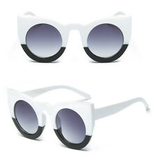 Fashion Round Cat Eye Oversized Sunglasses Retro Thick Vintage Style Frame Women 5#