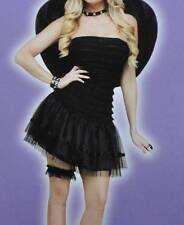 NWT-Womens Adult Black Fallen Angel Dress Halloween Costume-size 4/8