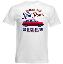 VINTAGE FRENCH CAR RENAULT 11 TURBO - NEW COTTON T-SHIRT