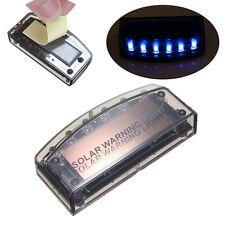 Auto Solar Charger 6 LED Car Alarm Warning Blue Light Flash Lamp Sensor Security