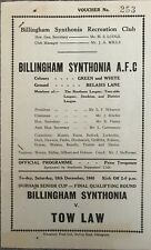 More details for billingham synthonia v tow law - durham senior cup -  1948/49