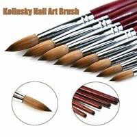 Professional Kolinsky Acrylic Nail Art Brush Manicure Powder Wood Handle Tool
