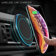 Qi Wireless Car Charger Magnetic Mount Holder For Samsung S10+ iPhone XS MAX XR