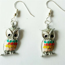1 pair  Women Ornament Fashion Accessories Charm Jewelry silvery Owl Earring