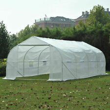 Portable Heavy Duty 20'x10'x7' Walk-In Green House Plant Garden Greenhouse E1
