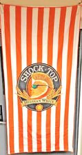 Shock Top Belgian White Beach Towel Soft Microfiber - 60� x 30� New & Free Ship