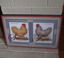 SUNNYSIDE FARMS Rustic French Country Style Rooster Chicken Hen Sign Home Decor