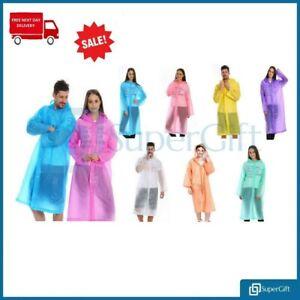 Raincoat Waterproof Poncho Reusable Plastic Adult Camping Festival Rain Coat