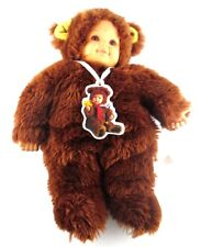 Anne Geddes 14 inch Baby Bear Bears Doll Age 18 Month+ Dark Brown Fur with Tags