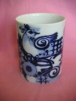TOP   1 Vase  wie neu! Rosenthal wiinblad 2 Vögel  blau weiß Rarität! 14 cm hoch