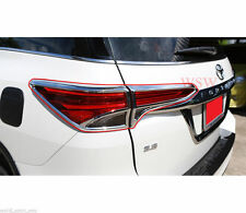 CHROME REAR TAILLIGHT TAIL LIGHT COVER TRIM FOR NEW TOYOTA FORTUNER SUV 2016 16
