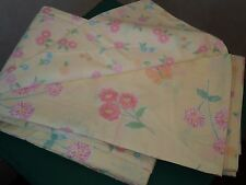 POTTERY BARN KIDS Yellow Floral Butterflies Duvet Cover Twin Sz Reversible NEW