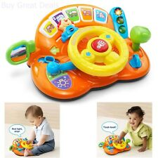 Baby Car Toy Learning Driving Steering Wheel Play Light Sound Music Toddler Gift