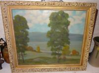 """EDMUND WUERPEL Tonalist Landscape Oil Painting """"Sentinels in the Valley"""" 1940-41"""