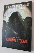 George A. Romero Signed 18x12 Canvas Survival of the Dead AFTAL