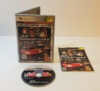 Midnight Club II (Microsoft Xbox, 2003) racing driving game cib complete