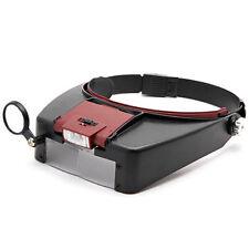 Headband 10x Magnifier Glass Lens Headset with Detachable LED Light