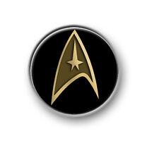 """STAR TREK LOGO / 1"""" / 25mm pin button / badge / Next Generation / DS9 / Trekkie"""