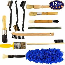 [12-Pc] Scratch Free Auto Detailing Brush Kit for Interior & Exterior Car Care