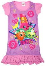 Pyjamas chemises de nuit rose en polyester pour fille de 2 à 16 ans