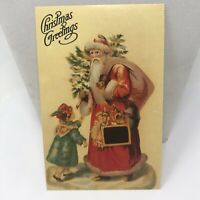 "Vintage Postcard Christmas 1988 Santa Claus ""Christmas Greetings"""