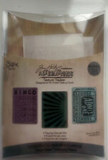 Sizzix texture fades -Tim Holtz playing games 3 small folder set RRP £7.99