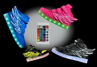 LED Light Up Shoes Sneaker Flashing for Girls Boys Kids and Youth Remote NIB Z9