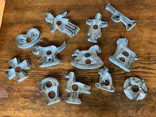 BEST Antique Set - 12 Pennsylvania Dutch / German Tin Soldered Cookie Cutters
