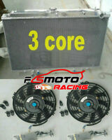 3 ROW Aluminum Radiator + Fans For Nissan Patrol Y61 GR GU 3.0 2.8 4.2 TD42 AT