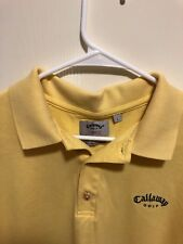 Callaway Golf Big Bertha Pique Mens Large Yellow NWOT