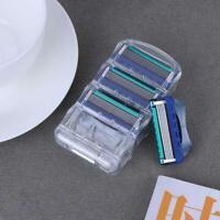4pcs/Box Razor Blade 5-Layers Rasoir Shaving Dark Blue Razor Blades