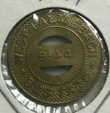 West Palm Beach Florida FL 9-44 Florida Cities Bus Company Transportation Token