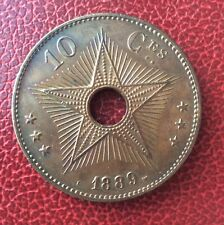 Etat Indépendant du Congo - Congo Belge -  Superbe  monnaie de 10 Centimes 1889