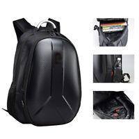 Motorcycle Backpack Helmet Bag Extendable  Waterproof USB Outlet Hard Shell