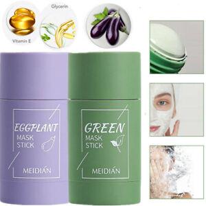 Green Tea Eggplant Purifying Clay Stick Mask Skin Oil Control Anti-Acne Solid hd