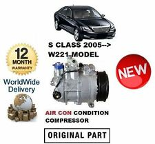 FOR MERCEDES S350 S450 S500 S550 S63 2005--> AC AIR CON CONDITIONING COMPRESSOR
