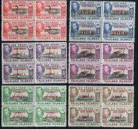 FALKLAND SCOTT#4L1/8 SOUTH ORKNEYS BLOCKS MINT NEVER  HINGED-SCOTT VALUE $102.60