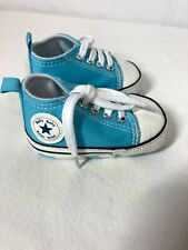 Infant Newborn Boy Baby Blue High Top Shoes Sneakers Size 1