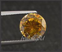 Diamant Brillant Schliff Farbe orange von 0,10-0,25ct, 100% echt mit Zertifikat