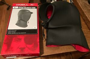 NEW SINGLE LINED PSCHO COLDWATER HOOD-O'NEILL-3MM-IN BOX-BLACK-VISOR-SIZE XL-SMO