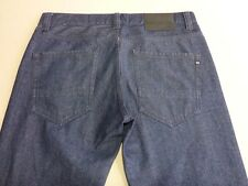 076 MENS EX-COND BILLABONG STR8 FIFTY STEEL BLUE GRAIN JEANS 32 REG $130 RRP.