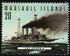 USS GEORGIA (BB-15) Virginia Class Battleship Warship Stamp (1997)