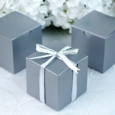 """100 pcs Silver FAVOR BOXES 3""""x3"""" Wedding Party Home Decorations GIFT Supply SALE"""