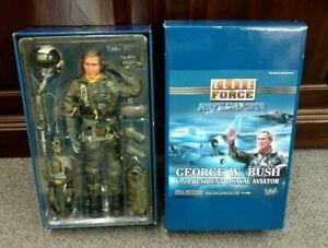 "Blue Box Elite Force George W Bush President & Naval Aviator 12"" Action Figure"