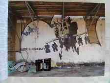 Banksy Happy Choppers Wall A4 Sign Aluminium Metal