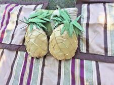 BETTER HOMES & GARDENS Quilt Bedspread Queen & Shams +++ 3 BESS Pineapple Pillow